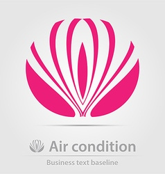 Air condition business icon vector
