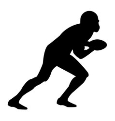 American football player the black color icon vector