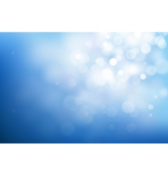 Blue christmas background with bokeh lights vector image vector image