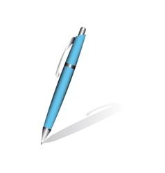 Blue pen vector