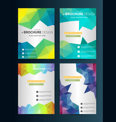 Brochure design template geometric shapes vector