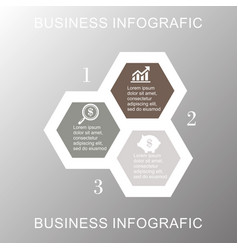 Business infographic hexagon vector