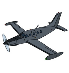 Dark small watch airplane vector image vector image