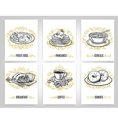 Decorative coffee design set vector