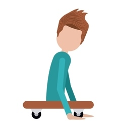disabled person on skateboard isolated icon design vector image