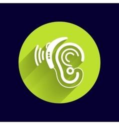 Ear icon hearing aid ear listen sound vector
