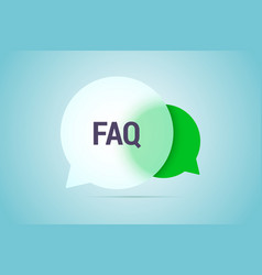 Faq with two speech bubbles with vector