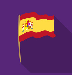 Flag of spain icon in flate style isolated on vector