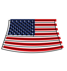 flag united states of america colorful watercolor vector image