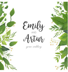 Floral wedding invitation save the date card vector