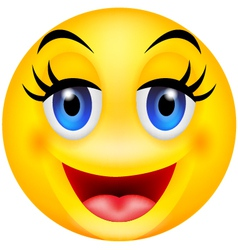 funny smile emotion vector image vector image