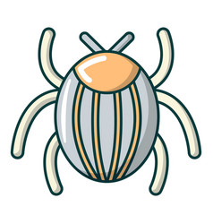 Garden beetle bug icon cartoon style vector