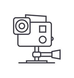 go pro video camera line icon sign vector image vector image