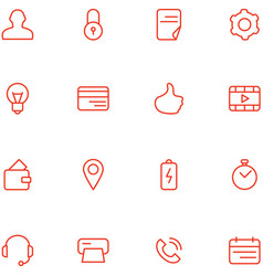 Icons set material design style vector