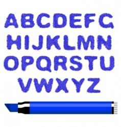 marker alphabet vector image vector image