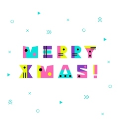 Merry christmas geometric background vector