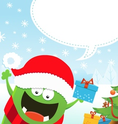 Monster Christmas Message vector image vector image