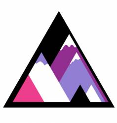 mountain icon vector image vector image