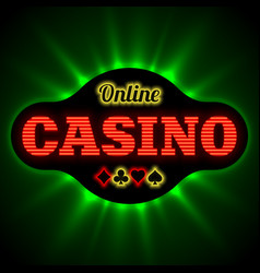 online casino banner with playing card suit vector image vector image