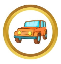 Orange jeep icon vector image