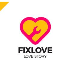 repair love logo design element vector image vector image