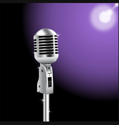 Retro microphone on spotlight background 2 vector