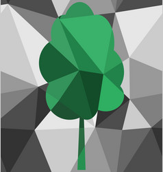 Seamless tree polygon pattern vector