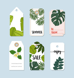 Set of hand drawn summer vintage sale labels and vector