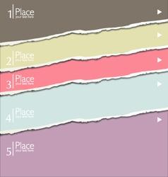 Torn paper modern design template vector