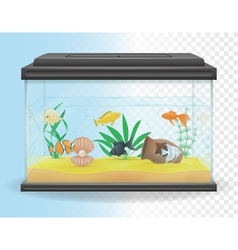 Transparent aquarium 04 vector