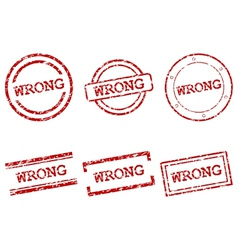 Wrong stamps vector image vector image
