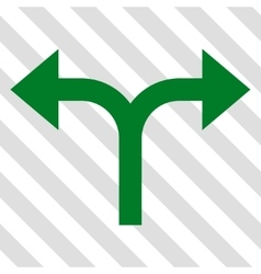 Bifurcation arrows left right icon vector