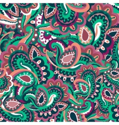 Colourful seamless paisley pattern vector image