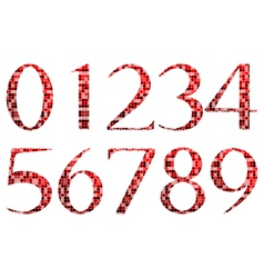 Abstract red numbers vector