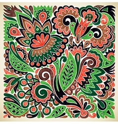 Marker flower ethnic design vector