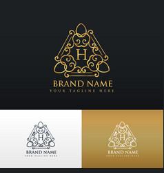 Brand logo design in luxury vintage style vector