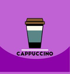 Flat icon design collection cappuccino to vector