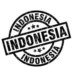 Indonesia black round grunge stamp vector