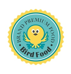 Premium bird food icon vector