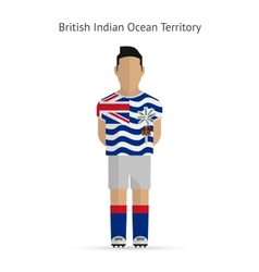 British indian ocean territory football player vector