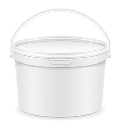 Plastic bucket for paint 01 vector