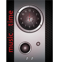 Music Time Clock vector image
