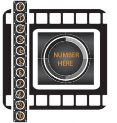Movie counter pattern vector