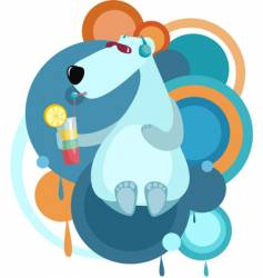 Cool bear vector