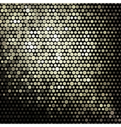 golden mosaic banner vector image