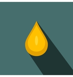 Yellow honey drop flat icon vector image