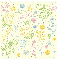 Seamless floral pattern for textile design vector
