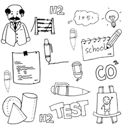 Hand draw school doodles vector