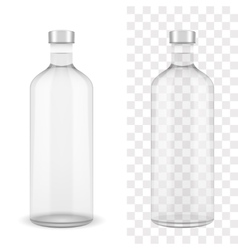 Absolut clear vodka bottle vector