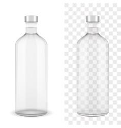 Absolut clear vodka bottle vector